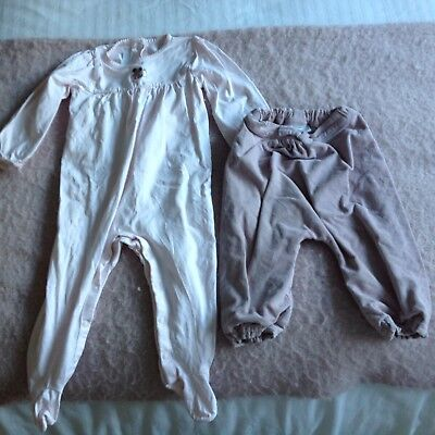White Company Girls Pink baby grow And Cord Trousers