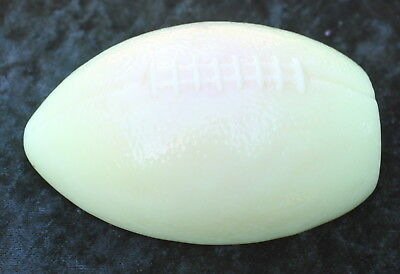 Fenton Burmese. Football Paperweight *glows*