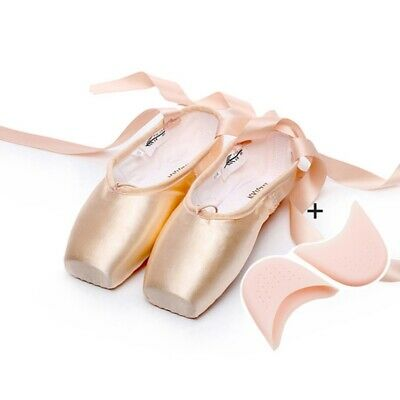 Women Ballet Dancing Shoes Slippers Point Toe Soft Gymnastics Training Shoes New