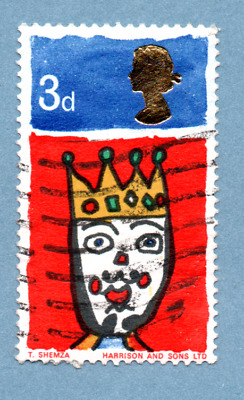 GB/UK stamp 1966 Christmas SG713 3d King of the Orient