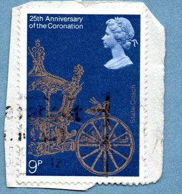 GB/UK stamp 1978 25th Anniv of Coronation SG1059 State Coach (1 stamp)