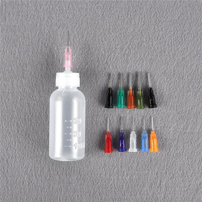 FTosin Solder Flux Needle Dispensing Dispenser Bottle 30ml + 11 Needles FT ME