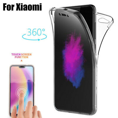 For Xiaomi Redmi Note 6 Pro Mi A2 8 360° Full Protective Clear Hybrid Cover Case