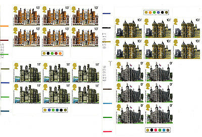 Stamps GB 1978. British Architecture Traffic Light Blocks of 6 MNH stamps