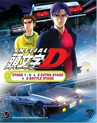 Anime DVD INITIAL D STAGE 1 - 6 +2 BATTLE STAGE + 2 EXTRA STAGES + 3 MOVIES SBS