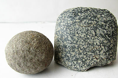 Prehistoric Neolithic Period Stone Axe Tool Weapon And Ball