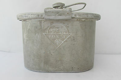 "WWII WW2 Vintage GERMAN ""PANTHER""  ALUMINUM FOOD CONTAINER"