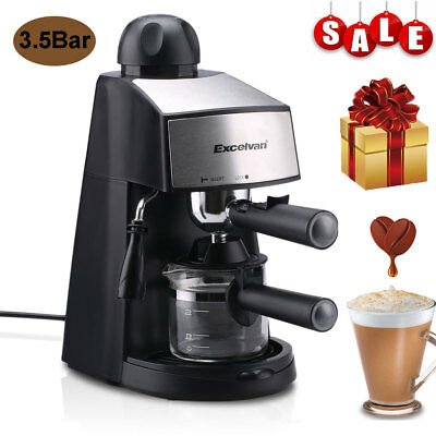 Steam Espresso Coffee Machine Maker Latte Cappuccino Barista 3.5Bar Pump 800W UK