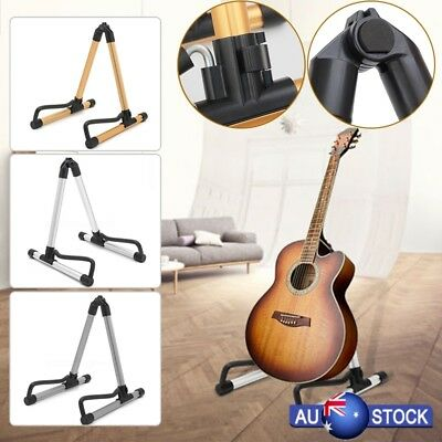 Portable Guitar Floor Stand Holder A Frame Universal Fits Acoustic Electric Bass