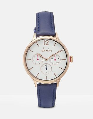 Joules Darcy Ladies Leather Strap Watch ONE in FRENCH NAVY in One Size