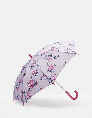 Joules Girls Fulton Junior Umbrella in Lilac Chinoiserie Floral in One Size