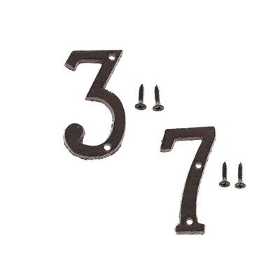3 &7 Metal Cast Iron House Address Numbers Numerals for House Signs/Plaques