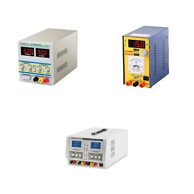DC Power Supply Unit Digit Variable Three Outputs Professional Linear DC Power