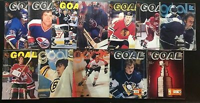 Vintage Goal Magazine Lot - 12 Issues // Official NHL Magaine from Sabres Games