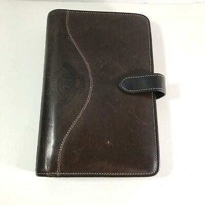 GHURKA MARLEY HODGSON Vtg ALL-LEATHER Brown Address Book Business Card Holder