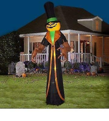 12 ft. Inflatable Gaint Pumpkin Scrooge Halloween Airblown Yard Decor Lighted