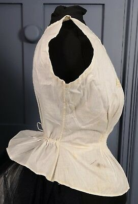 1870s / 1880s Bustle Corset Cover - Victorian Antique Clothing / Underwear