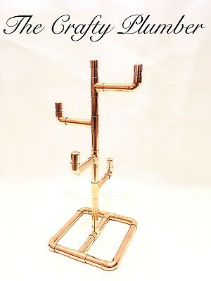 HAND MADE 4 CUP MUG TREE STAND HOLDER - Vintage, Steampunk, Industrial, Chic