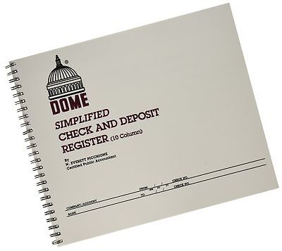 dome publishing check and deposit register 12 29 picclick