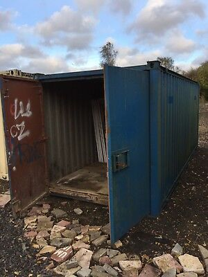 Anti Vandal Site Office Cabin / Storage Container 20ft Portable Building
