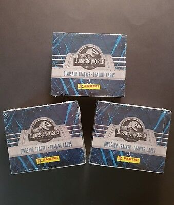 Panini Jurassic World Fallen Kingdom Trading Cards  3 Displays = 72 Tüten OVP 1A