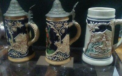 Miniature   vintage  beer steins
