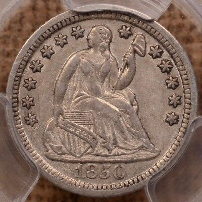 1850-O Better date Seated Half dime, PCGS XF45, pleasing+   DavidKahnRareCoins