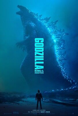 "Godzilla King of the Monsters Poster 48x32"" 36x24"" 2019 Print Silk"