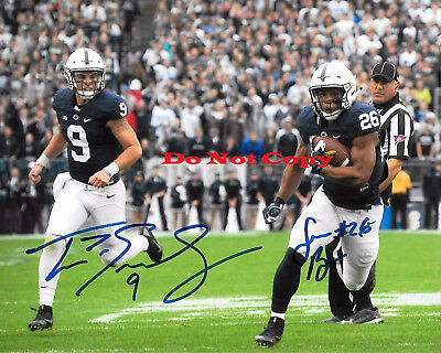 SAQUON BARKLEY & TRACE MCSORLEY PENN STATE FOOTBALL autographed 8x10 photo RP
