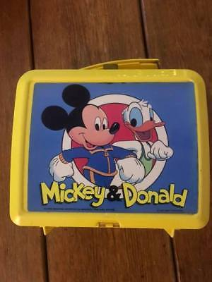 Mickey and Donald Aladdin lunch box 1970's