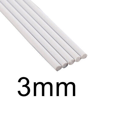 White ABS Rod Rod Tube 2mm-6mm Assorted Cylinder Pole DIY Table Model Hot 2018