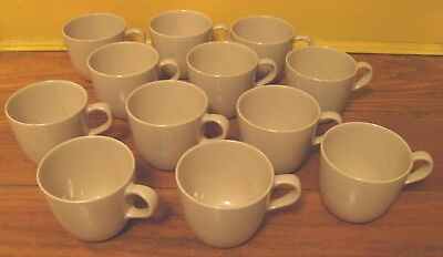 Set of 12 Texas Ware Mugs/Cups is Tan-fastic! Taupe/Beige