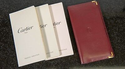 Cartier Leather Telephone Address Book Leather Case Used