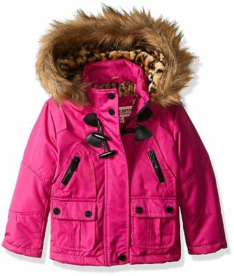 Girls Winter Warm Coat Toddler Kids Hooded Stylish Jacket With Pockets Pink 4T