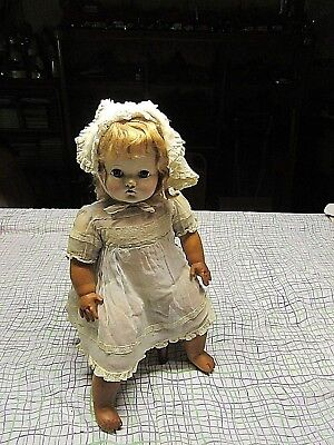 "Vintage 1936 MADAME  ALEXANDER   "" LITTLE GENIUS"" doll 21"""