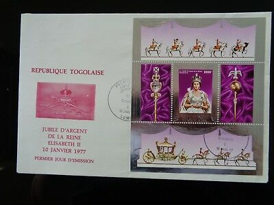 TOGO 1977 QUEENS SILVER JUBILEE 1000f MINIATURE SHEET FIRST DAY COVER