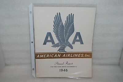 Vintage - 1946 American Airlines Inc. Annual Report -