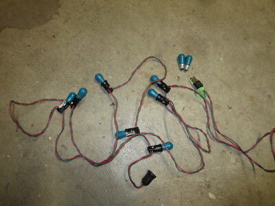 Vintage Christmas Light String Tested and Working with 7 Blue Egg Shaped Bulbs