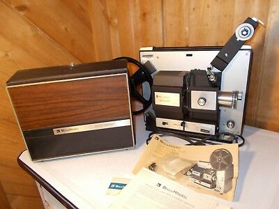 Vintage Bell & Howell 456 Autoload 8mm Super 8 Movie Portable Projector WORKS!