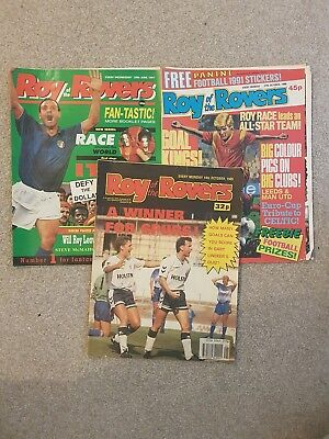 3 x Roy of the Rovers Comics (14/10/89, 27/10/90 & 29/06/91)
