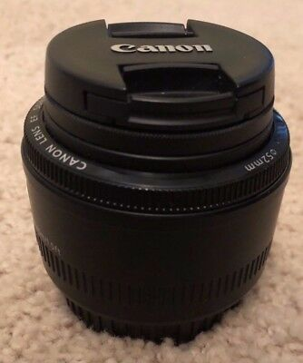 Canon EF 50mm f/1.8 STM Lens w/UV Filter - Mint condition!