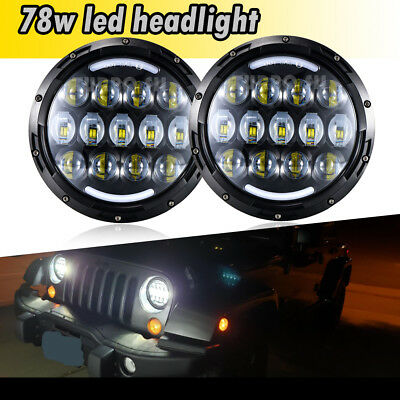 DOT Approved 2x 7inch Round For FREIGHTLINER Century LED Headlight High Low Beam