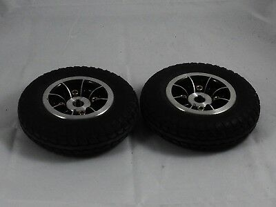 Pick Me Up Rascal 355 mobility scooter pair of Rear Wheels w/ solid 200x50 Tyres