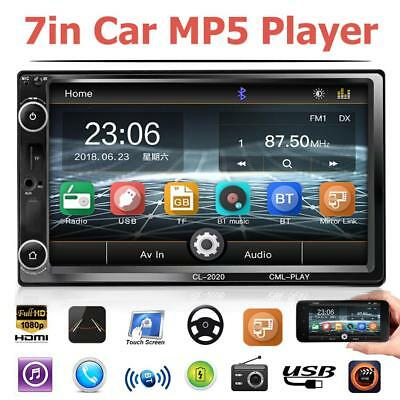 Double 2Din 7in Touch Car Stereo MP5 Player FM Radio Bluetooth AUX USB TF Card