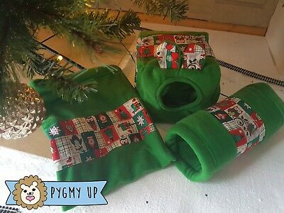 Xmas gift for African Pygmy Hedgehog fleece home tunnel pouch