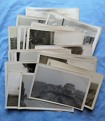 WWII Photo Lot of German Soldiers Vehicles- Tanks, Cities, etc.