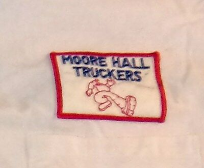 """TEXAS A&M """"Aggies"""" Dormitory MOORE HALL TRUCKERS T-Shirt/Late 1960s-Early 1970s"""
