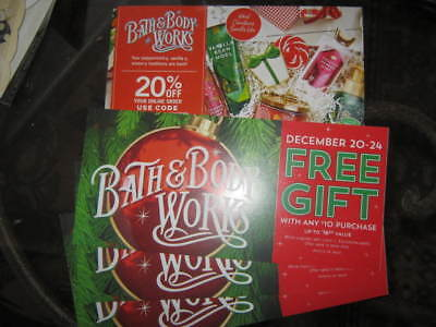 Bath & Body Works Coupons Lot of 4 *Fee Item w/purchase** 20% off online order