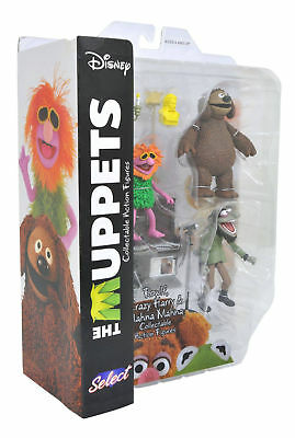 Die Muppets ROWLF und Harry & Mahna Diamond Toys Action Figuren Set Neu / Ovp