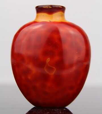 Antique Chinese Realgar Glass Snuff Bottle 19th C. Qing